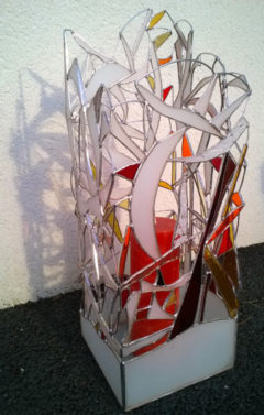 Lampe vitrail
