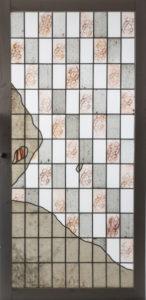 Porte vitrail