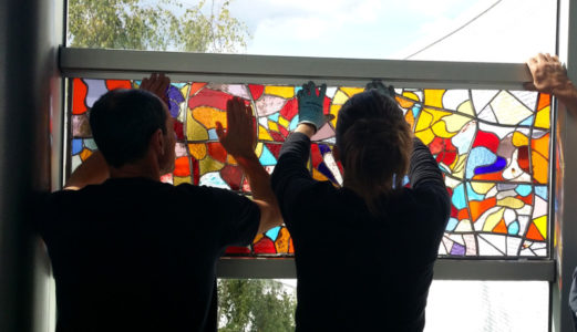 Installation vitrail