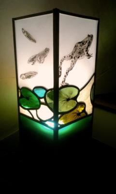 Lampe Armorique Vitrail