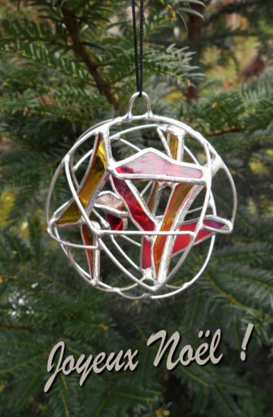 Boule de Noël Armorique vitrail