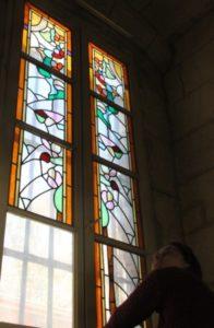 Dépose de vitraux