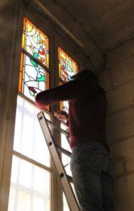 Dépose de vitraux 2